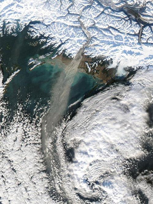 Một cơn bão bụi ở Alaska vào năm 2017
