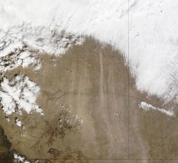 Cơn bão bụi quét qua Colorado năm 2014.