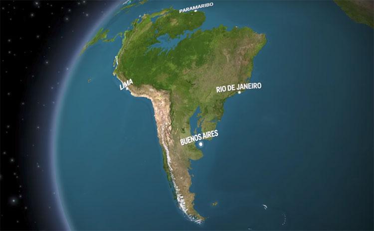 Ở Nam Mỹ, lưu vực sông Amazon và lưu vực sông Paraguay sẽ biến mất