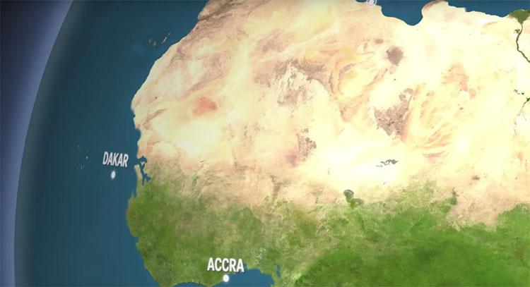 Châu Phi sẽ mất ít đất liền hơn so với các châu lục khác.