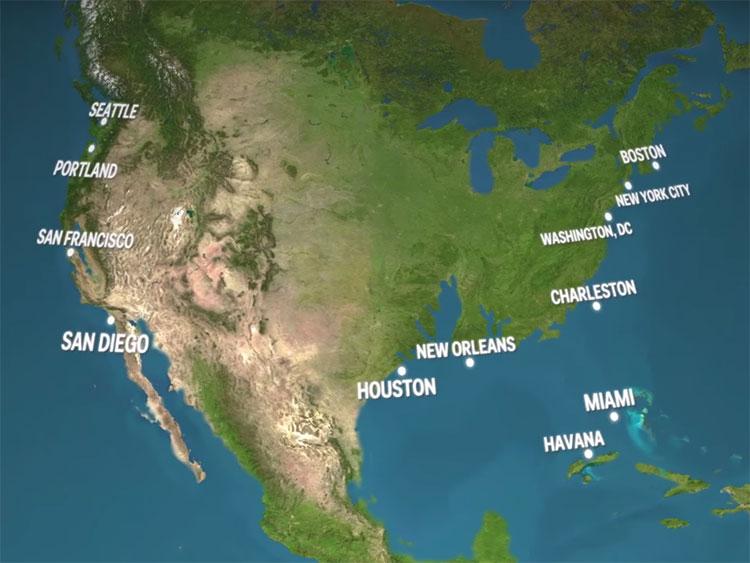 Tốc độ tan băng ngày càng nhanh đang làm tăng mực nước biển và thay đổi địa hình bờ biển.
