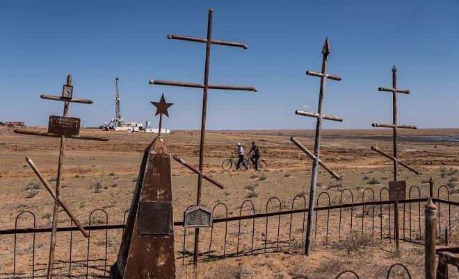 Biển Aral nay đã biến mất hoàn toàn.