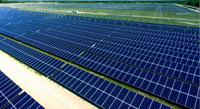 Giàn tế bào quang điện của công ty điện thành phố gồm 343.000 tấm tạo nên công suất 75 megaWatt.