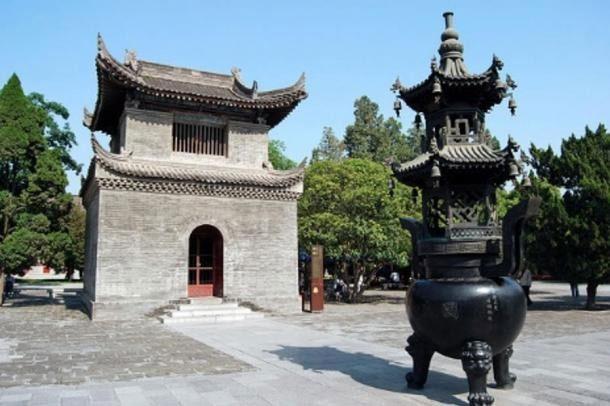 Ngôi chùa cổ được xây dựng dưới thời trị vì của Võ Tắc Thiên.