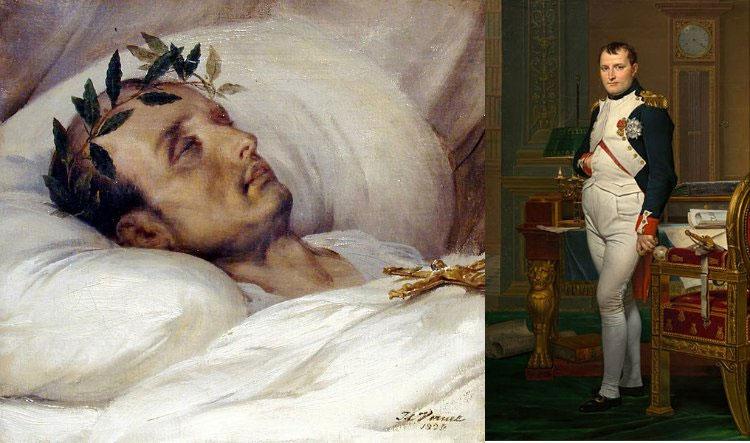 Napoleon Bonaparte những ngày cuối đời trên giường bệnh.