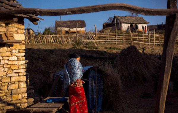 Những chiếc lán tạm bợ được dựng lên - nơi trú ngụ của phụ nữ Nepal vào kỳ kinh nguyệt.
