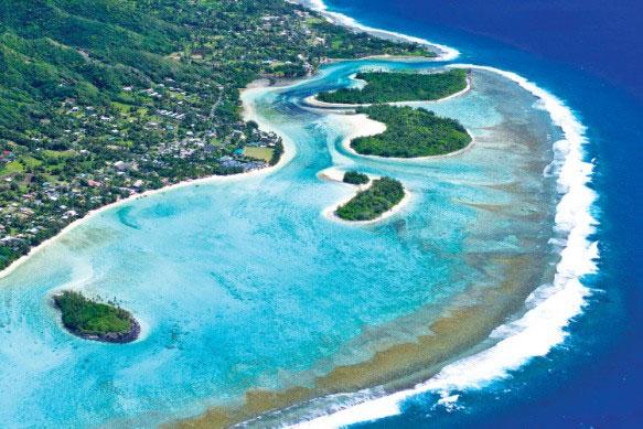 Đây là đảo Cook. Theo lời đồn đảo Tuanaki tuyệt diệu khá gần đảo Cook nhưng tìm hoài không thấy