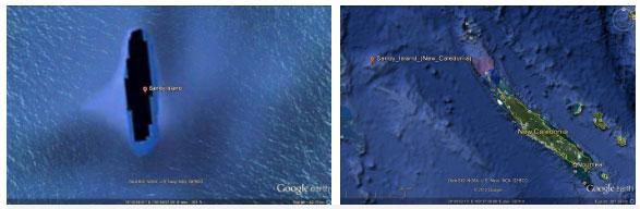 Đảo Sandy chỉ xuất hiện trên... Google Earth?