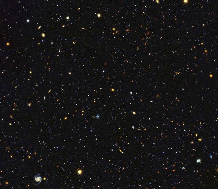 Một phần bức ảnh mới của kính Hubble với hàng nghìn thiên hà.