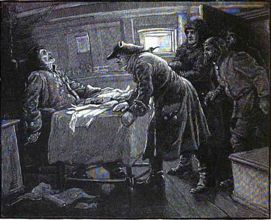 Các thuyền viên tàu Heard phát hiện xác thuyền trưởng tàu Octavius chết cóng trên ghế ngồi.