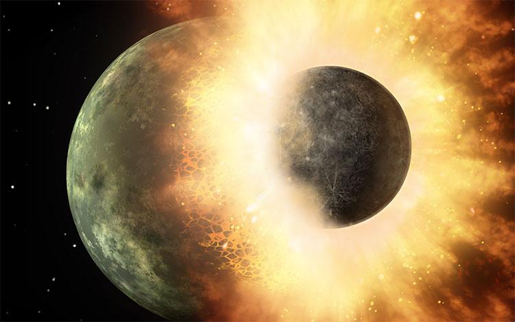 Hành tinh Theia lao vào Trái đất