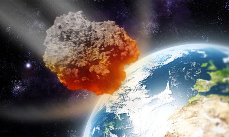 Tiểu hành tinh di chuyển với tốc độ cao ngoài không gian.