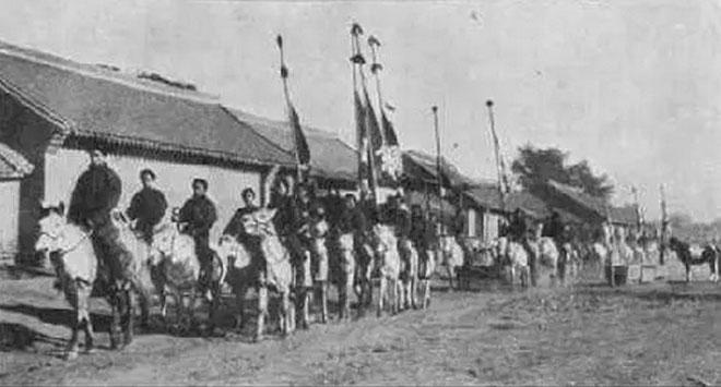Kỵ binh nhà Thanh.
