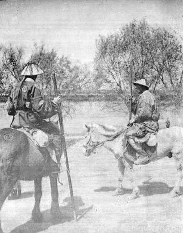 Kỵ binh ở vùng Đông Bắc thời nhà Thanh.