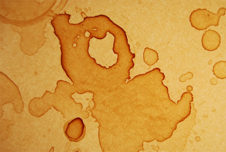 Phần tử nước ở phần rìa ngoài vệt cà phê luôn bốc hơi nhanh hơn so với các phần tử bên trong.