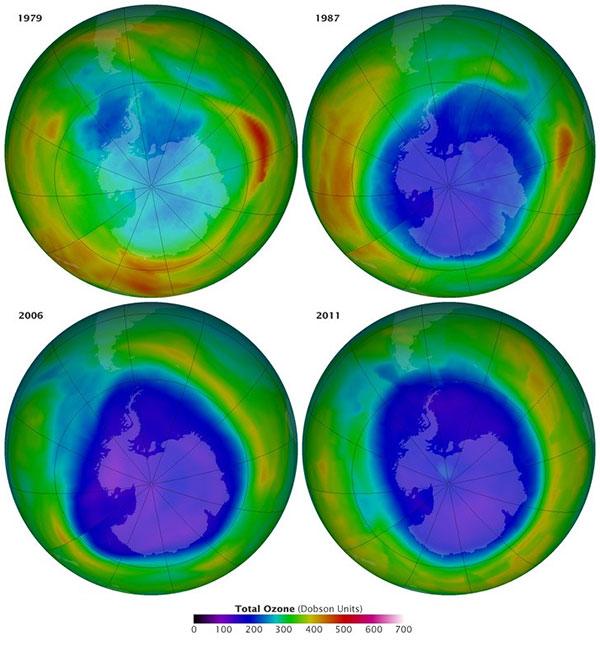 Lỗ thủng tầng ozone đang đóng lại