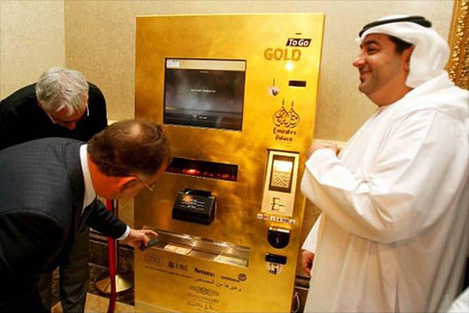 ATM Gold To Go ở Khách sạn Emirates Palace, Abu Dhabi.