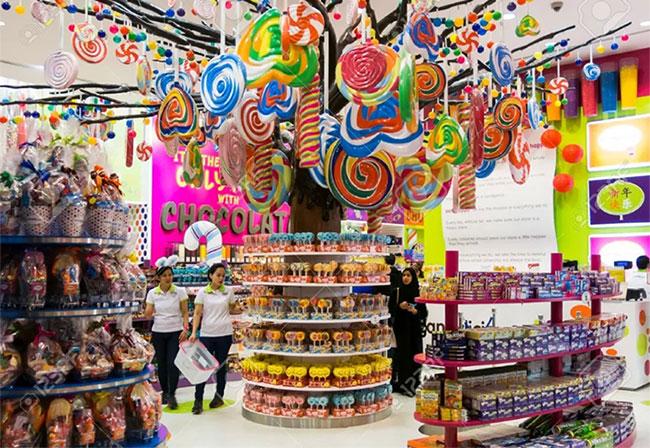 Cửa hàng bánh kẹo Candylicious rộng lớn ở Dubai.