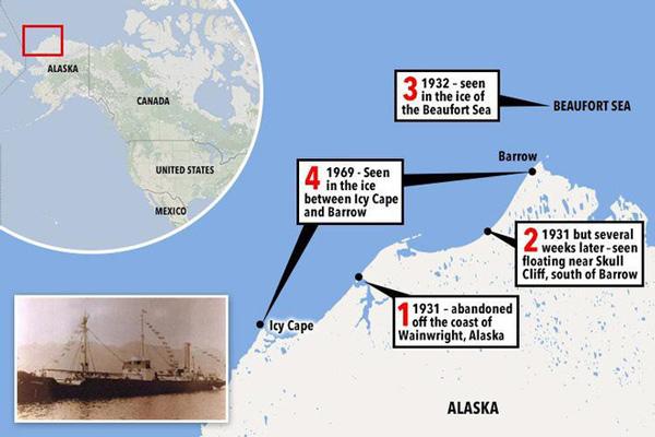 Nhiều người kể rằng đã bắt gặp tàu Baychimo lướt trên mặt biển và lần cuối cùng là ở ngoài khơi Alaska vào năm 1969