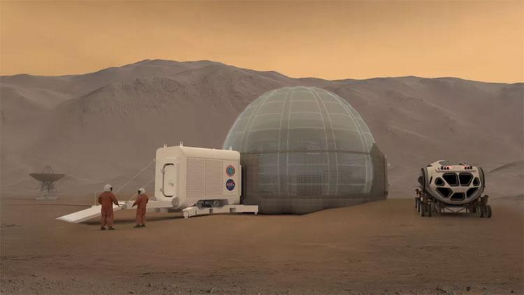 Cuộc sống tương lai trên sao Hỏa với ngôi nhà độc đáo và phương tiện di chuyển cũng kỳ lạ không ké