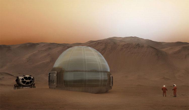 Mars Ice Home - ngôi nhà khá giống với nhà bằng băng của người Eskimo ở Bắc Cực