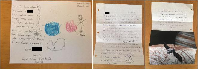 Bức thư của bé gái và Tiến sĩ David Williams.