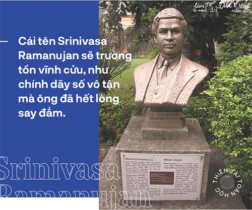 The mathematical genius Srinivasa Ramanujan, the man who knows to count endlessly