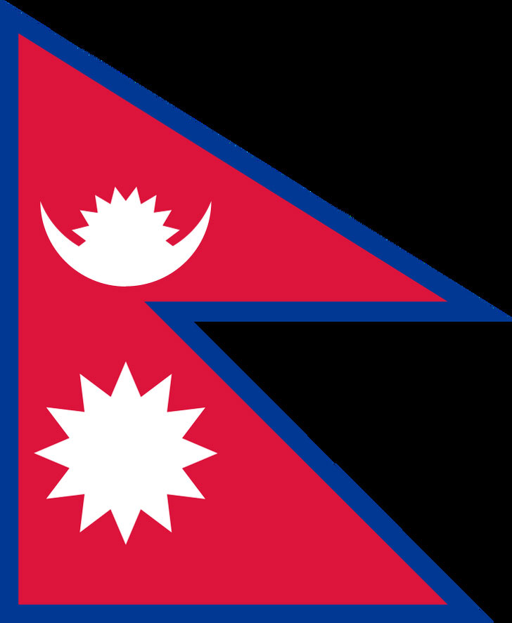 Nepal là nước duy nhất có quốc kỳ không phải hình chữ nhật hay hình vuông.