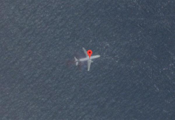 Hình ảnh nghi của MH370 được Google Maps chụp lại.
