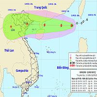 Áp thấp nhiệt đới mạnh lên thành bão trên biển Đông - cơn bão số 5