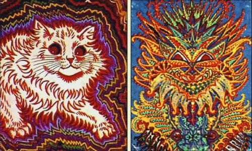 Những bức tranh trừu tượng về mèo, dần dần con mèo không giống mèo nữa.