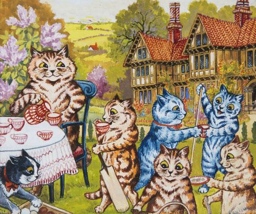 Những chú mèo đi bằng hai chân, biết uống trà, nói chuyện.