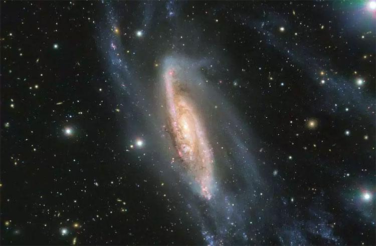 Kính viễn vọng chụp thiên hà NGC 3981 cách Trái đất 65 triệu năm ánh sáng.