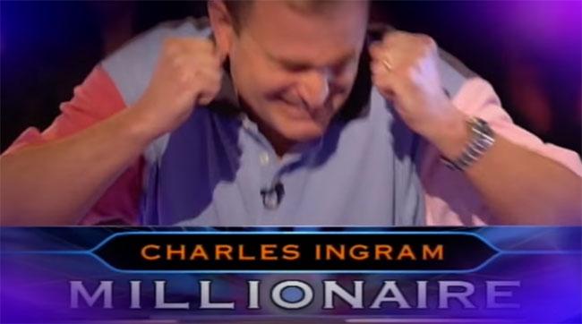 Charles Ingram vui mừng khi chiến thắng 1 triệu bảng Anh.