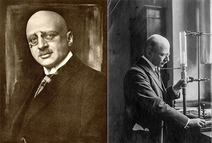 Fritz Haber (ảnh trái) và Fritz Haber nghiên cứu chế tạo khí độc Clo.