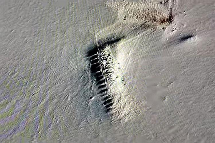 Hình ảnh bí ẩn được cho là một thị trấn bị chôn vùi ở Nam Cực.