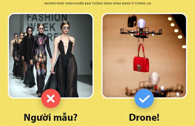Drone được dùng thay người mẫu catwalk