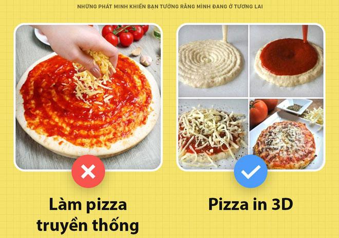 Đến bánh pizza cũng được in 3D