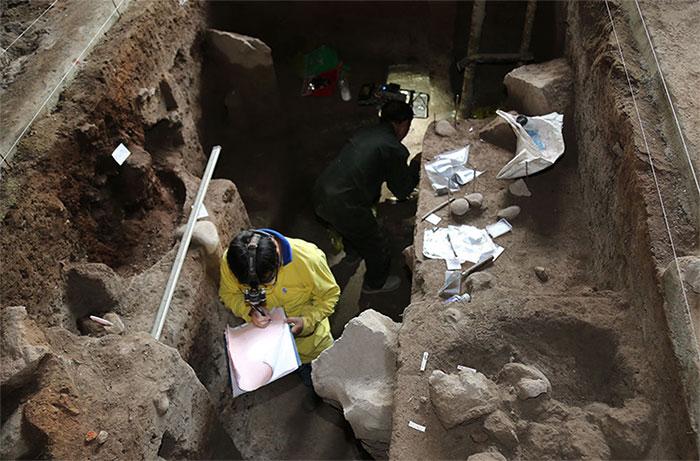 Hang C6.1 được xác định có dấu tích người xưa cư trú lâu dài