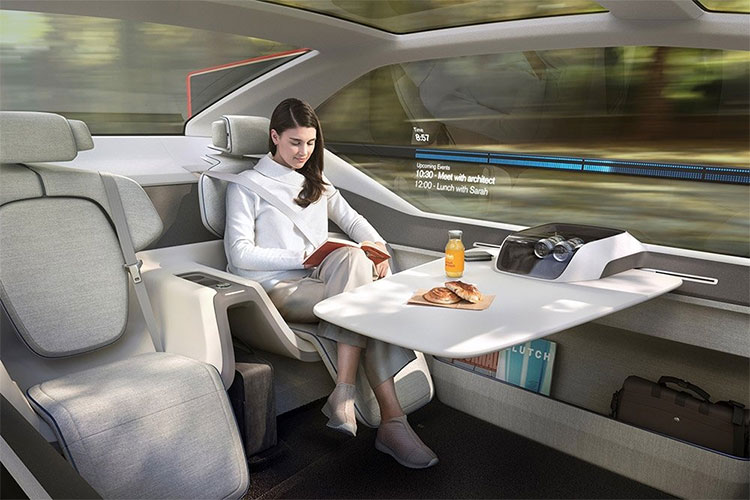 Buổi sáng thức dậy, không gian bên trong xe sẽ trở thành phòng khách sang trọng