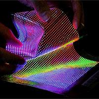 """Thời công nghệ, ngay cả vải cũng được """"dệt"""" từ sợi quang, đèn led"""