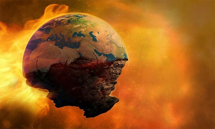 Nguyên nhân khiến thế giới kết thúc được cho là do chiến tranh hạt nhân, biến đổi khí hậu và bất ổn chính trị.