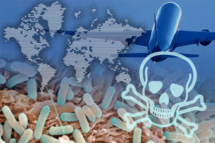 """Việc lây lan bệnh dịch thông qua máy bay thương mại là """"Chén Thánh"""" của khủng bố."""