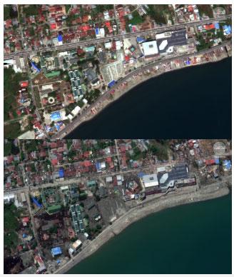 Hình ảnh này cho thấy, số phận đau thương của các cư dân sống bên cạnh trung tâm mua sắm Palu.