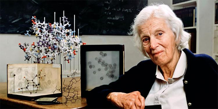 Nhà khoa học nữ người Anh Dorothy Crowfoot Hodgkin.