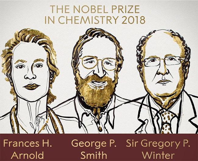 Các nhà khoa học giành giải Nobel Hóa học 2018