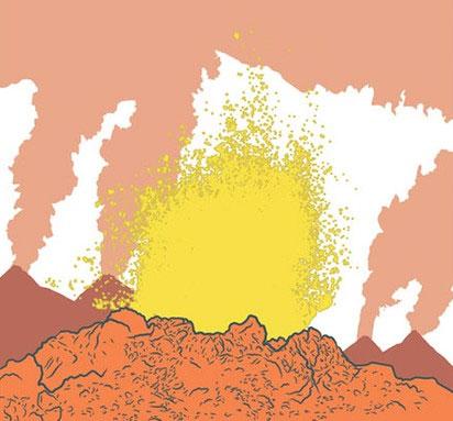 Núi lửa phun trào, tạo nên hiệu ứng nhà kính mạnh mẽ chưa từng thấy.