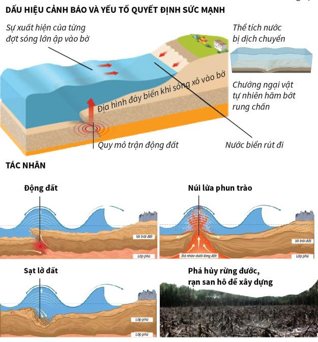 Những yếu tố quyết định sức mạnh của sóng thần.