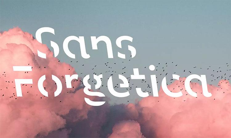 Phông chữ Sans Forgetica.