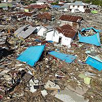 Thảm họa động đất sóng thần tại Indonesia: Số nạn nhân thiệt mạng gần 1.600 người
